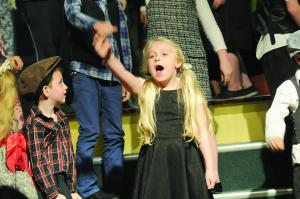 """ Ill do anything"" being sung by the cast of Oliver in St. Raphaels, Ballyfermot."